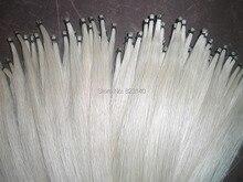 35 Strängen Beste Qualität Sibirien Weiß Hengst bogen haar 31 zoll, 5,5g/hank