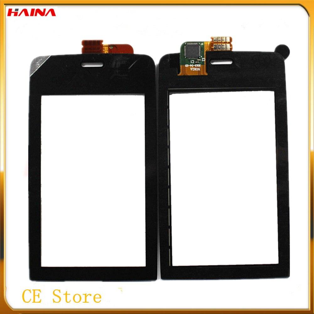 3.0 inch מסך מגע לוח מגע עבור Nokia Asha 308 309 310 אאוץ 'מסך Digitizer חיישן טלפון נייד לוח מגע + 3 m קלטת
