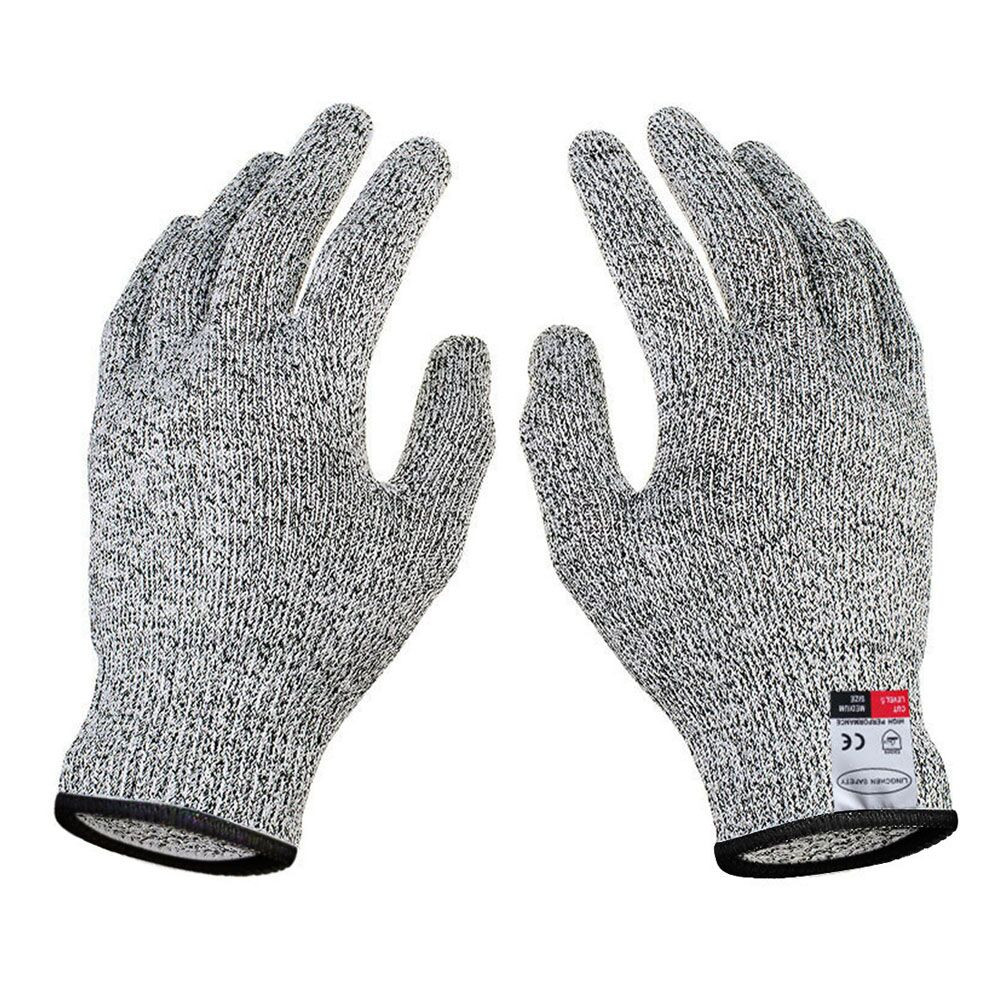 Cut Resistant Gloves High Performance Level 5 Protection Food Grade White L