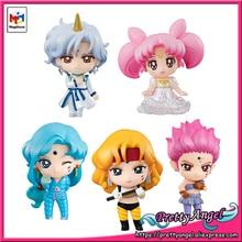 PrettyAngel Genuino Megahouse Petit Chara! Pretty Guardian Sailor Moon SupreS Figure Set di 5 pcs