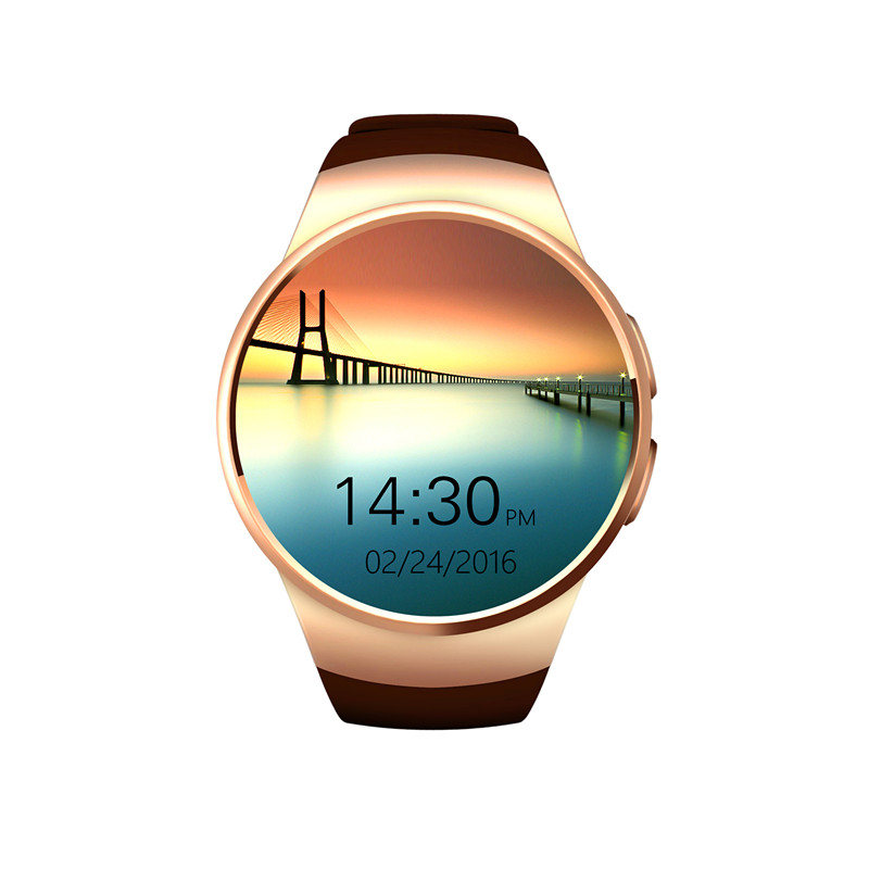 imágenes para Kw18 smartwatch puede insertar el auricular bluetooth con reloj de frecuencia cardíaca pk tarjeta sim xiaomi huawei smart watch para el hombre/mujer