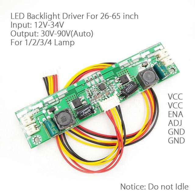 Per 26 65 pollici 12V 24V LED Driver retroilluminazione universale Boost plate TV scheda corrente costante retroilluminazione drive V56 per 1/2/3/4 Strip