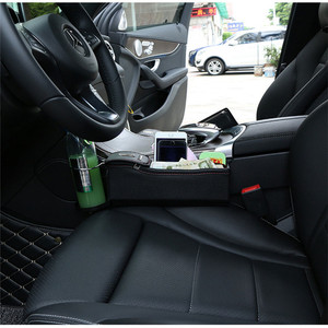 Image 5 - Car Seat Storage Bag Stowing Tidying For Phone Coins Cigarette Keys PU Leather Car Seat Side Storage Box Multifunction Organizer