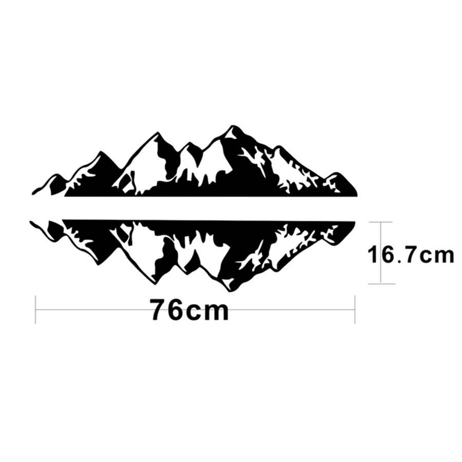 2 Pcs 76x16 Cm Gunung Sticker Vinyl Stiker Seni Desain Stiker Untuk Mobil Auto Truk Jeep Aliexpress