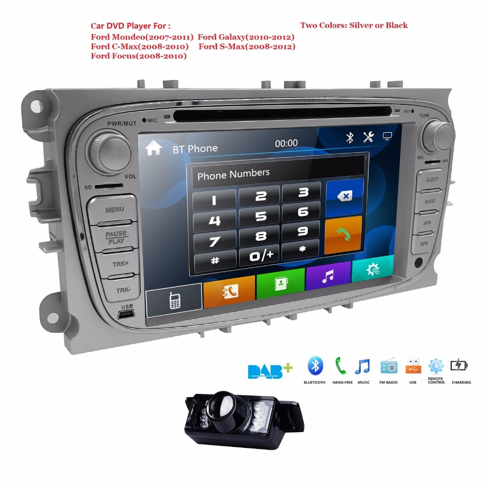 Double 2 din Car Multimedia Monitor Autoaudio Car DVD Player <font><b>GPS</b></font> Navi for <font><b>Ford</b></font> <font><b>Focus</b></font> Galaxy Audio Radio Stereo DAB+ Head Unit BT image