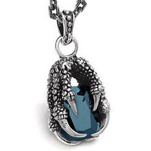 Monster Clawn 925 Sterling Silver Necklace Pendant Vintage Men's Jewelry With Gift Box