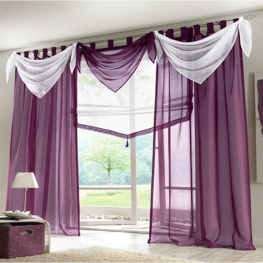 Buy 2017 Voile Sheer Ascot Valance Luxury Curtains For Living Room European