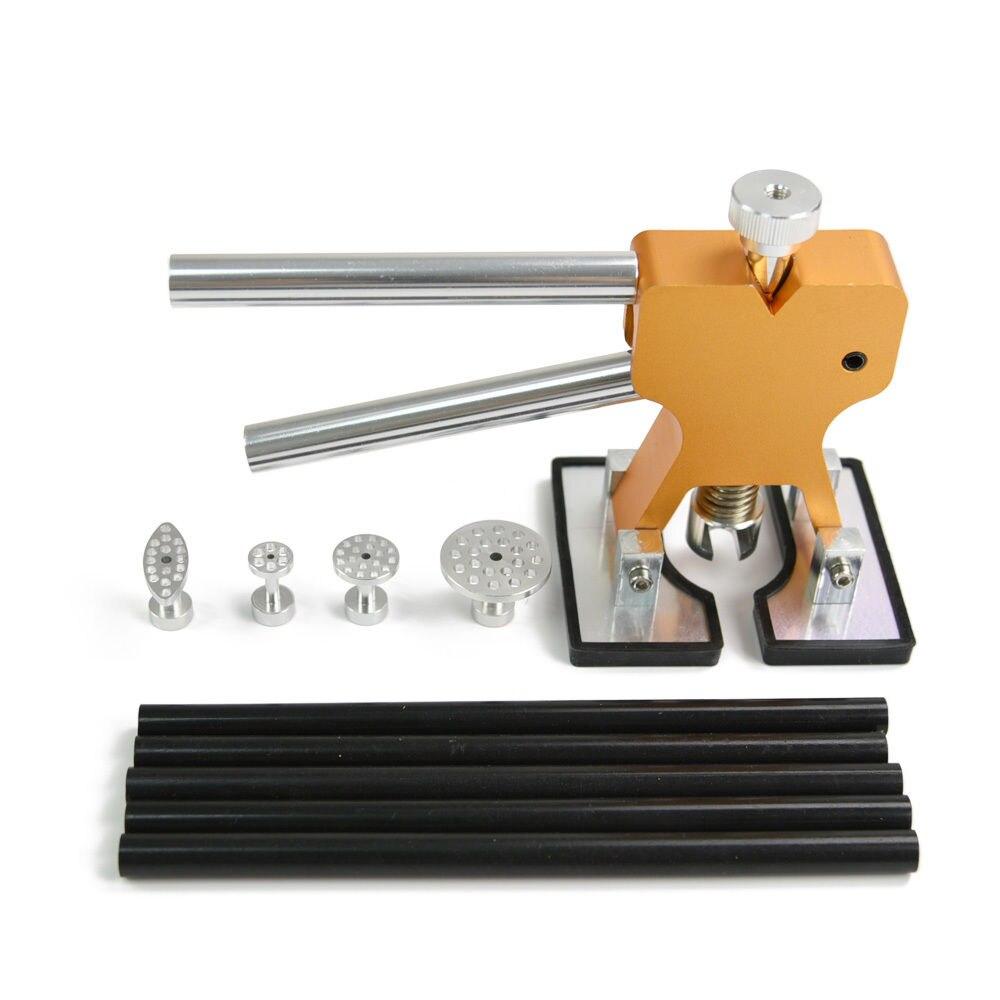 Furuix PDR Outil Kit Colle Extracteur Lève La Main 4 pcs Tab Bâton de Colle Débosselage sans peinture outils