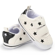 2017 baby infant shoes kid newborn first walkers pu leather waterproof shoes star printed 6-18 M Hot Sale