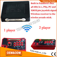 Pandora S Box 4S Wireless Arcade Controller 2 Player Wireless Arcade Stick With 680 Games Suitable