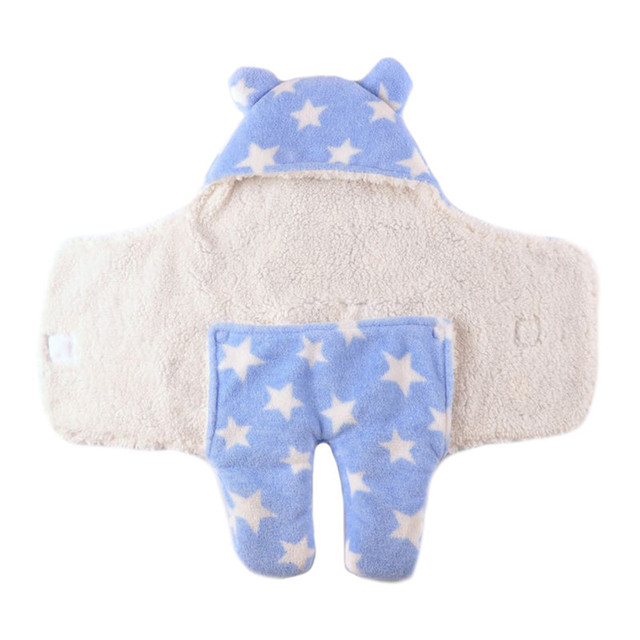 Fashion Baby Sleeping Bag Clothing Sets Envelope for Newborns Cute Dots Cotton Flaneel Warm Blanket Swaddle 0-9M