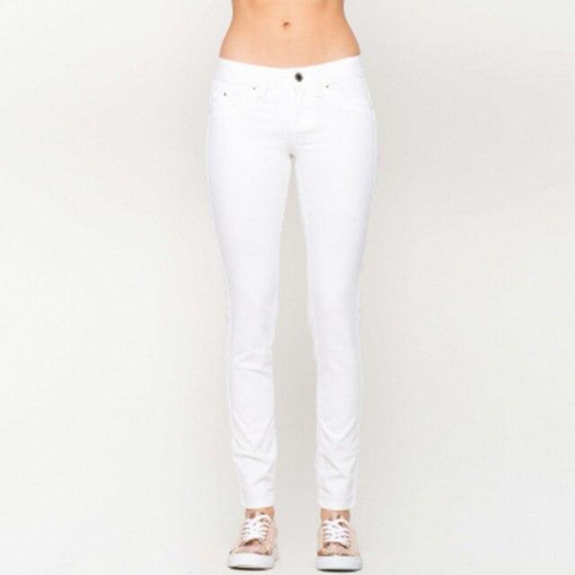 6014cb55ac255c Elastic Slim White Pants womanCasual New High Waist Woman Trousers Retro Leggings  Womens Colored Skinny Jeans Plus Size 60K057