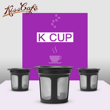 2pc Stainless Steel Reusable Coffee Filters Capsule Cup Refillable Cycle Capsules Pods For Keurig Machines Filter K-cup
