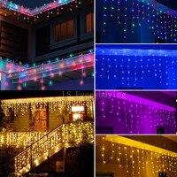 Indoor And Outdoor Decorative Lamp String 220V 240V Window The Eaves Railing Decorative LED Lamp String