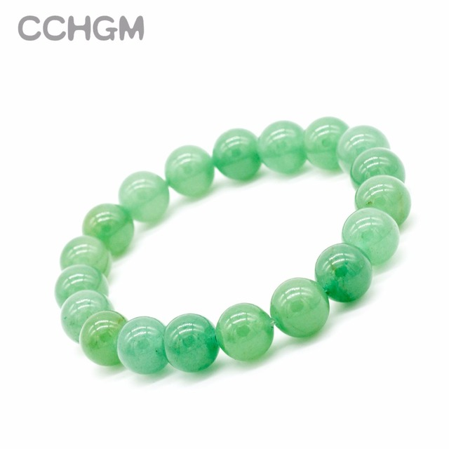 2017 New Natural Green Aventurine stone beads bracelets for women round beads br