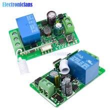 Module de commutateur de carte de télécommande émetteur-récepteur sans fil RF 1 canal 315MHZ 433 MHz 315MHZ DC 12V 433 V 10A