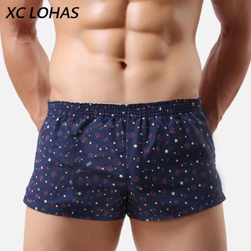 Heißer Verkauf Männer Boxershorts Trunks Hosen Baumwolle Cueca Unterwäsche Gedruckt Herren Unterhosen Höschen Lässig Weichen Homme Homewear