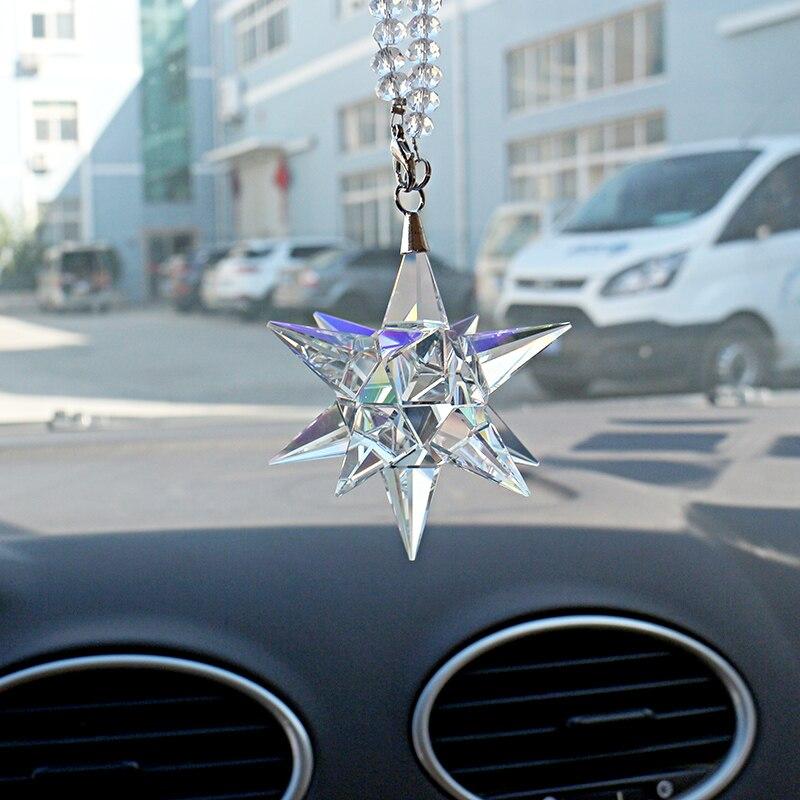 1x Car Rear View Mirror Pendant Crystal Hang Ornament Car Interior Home New