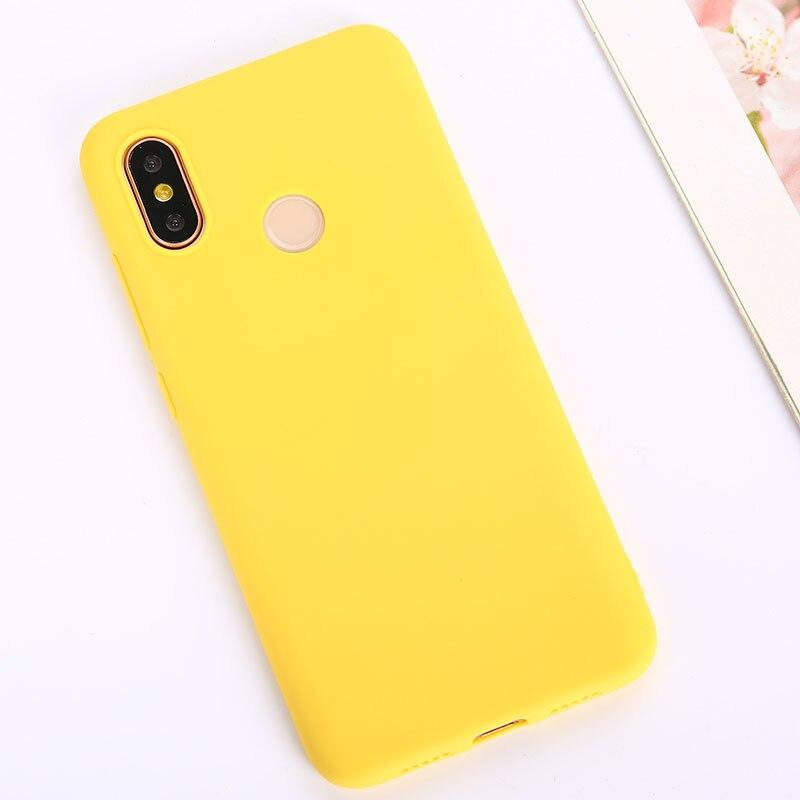 Цветной ТПУ силиконовый чехол для Xiao mi Red mi Note 6 5 7 8 Pro Red mi 7 6A 7A матовый чехол для Xiaomi mi 9 SE mi 9T mi 8 Lite mi A2 A1 A3 - Цвет: Yellow