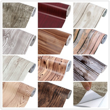Rainqueen 10M Vinyl Self Adhesive Wallpaper Rolls Wood Grain Furniture Wall Stickers Kitchen Cabinet Home DIY Decor Waterproof