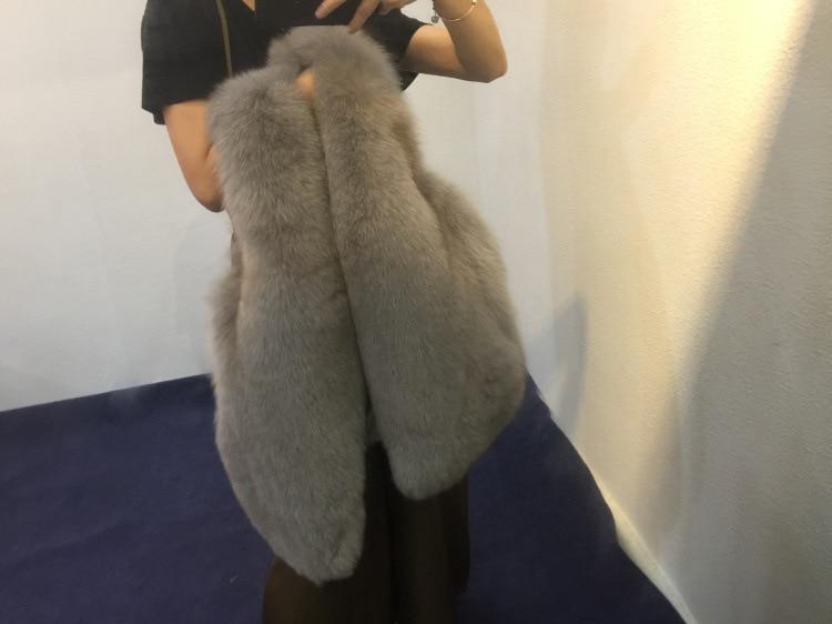 Chaud Femmes Et Tir En Imitation Gilet Réel 2018 Nouvelle De Automne D'hiver Fourrure Peluche Veste Manteau Renard qn6wEg