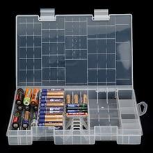Hfes真新しい多機能aaa aa cd 9vバッテリーホルダーハードプラスチックケース収納ボックスラック