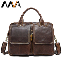Bag Men's Briefcase Genuine Leather Bags for Men Messenger Bag Men Leather Laptop Bags Men's Briefcase with Handle Handbag 8002