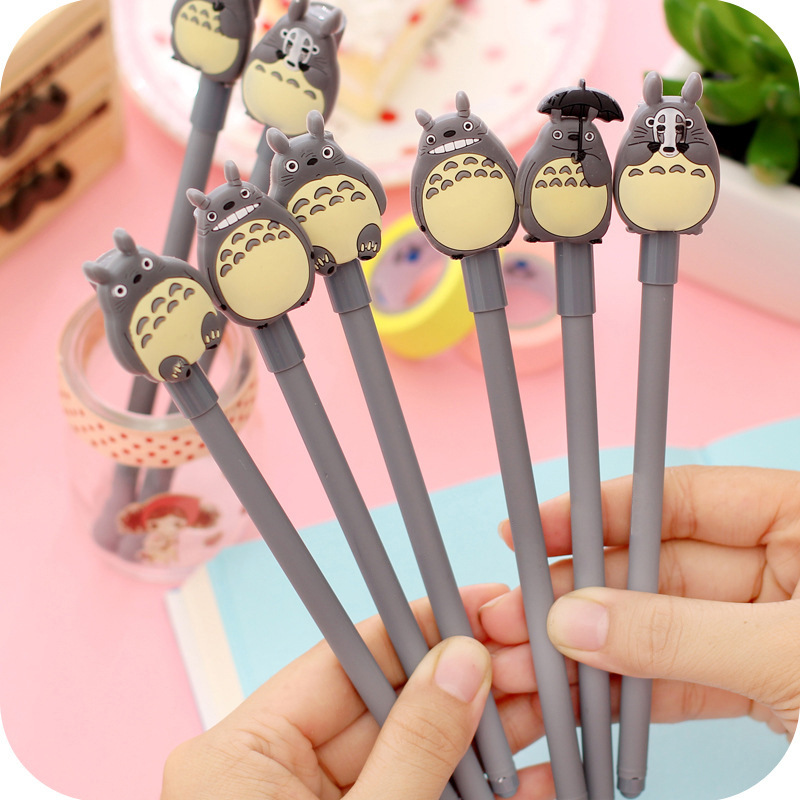Zx Flux Superstar 4pcs Cartoon Kawaii Japanese Totoro Pen Gel Pens Cute Korean School Supplies Wholesale For Kids Student Prize