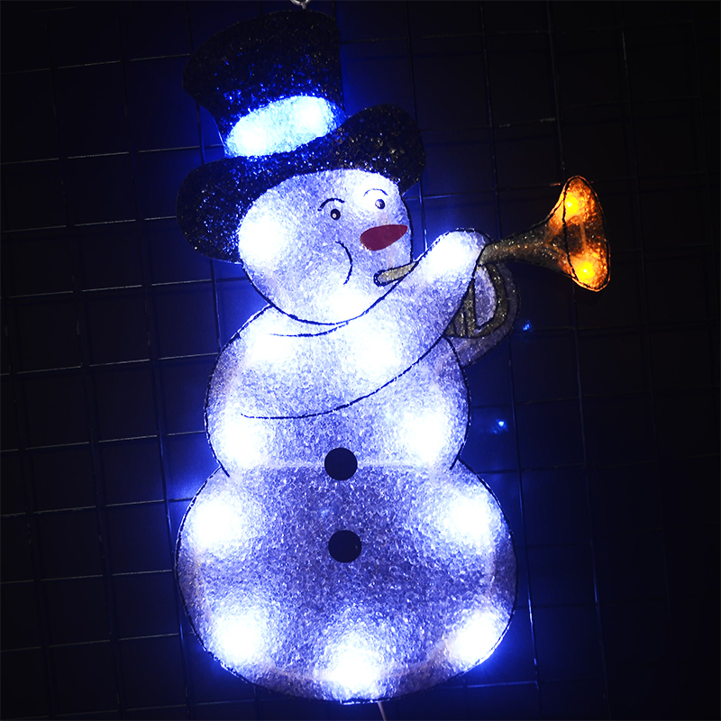 24V navidad EVA snowman motif light 18.7 in. Tall holiday LED light decoration christmas lighting outdoor home decoration