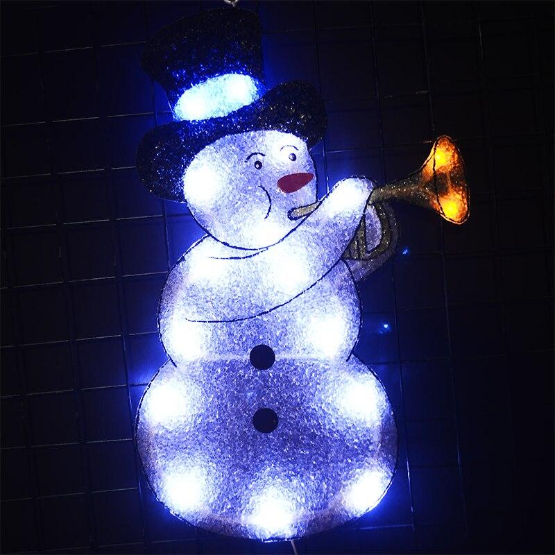 24V navidad EVA snowman motif light 18.7 in. Tall holiday LED light decoration christmas lighting outdoor home decoration