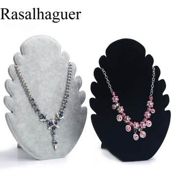 цена на Fashion Black/Gray With High Quality Plush Fabric Composed Necklace/Pendant Holder Make Your Jewelry Luxury