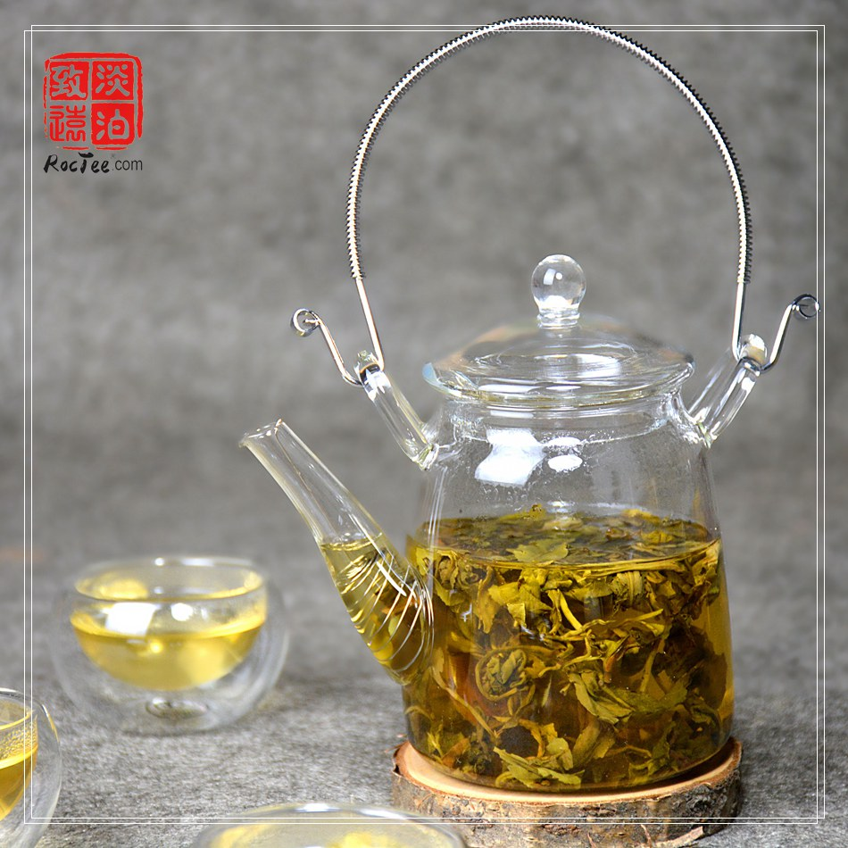 300ml Heat Resistant Glass Teapot 50g Jasmine Tea Dragon Pearl