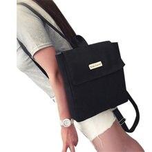 0f1cda2edcc5 Для женщин холст рюкзак девушки свежий прекрасный Стиль школьная сумка  рюкзак оптовая продажа Прямая поставка #