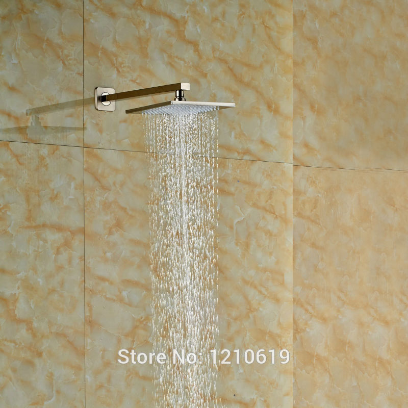 Newly Brass Bathroom Shower Head Nickel Brushed 10
