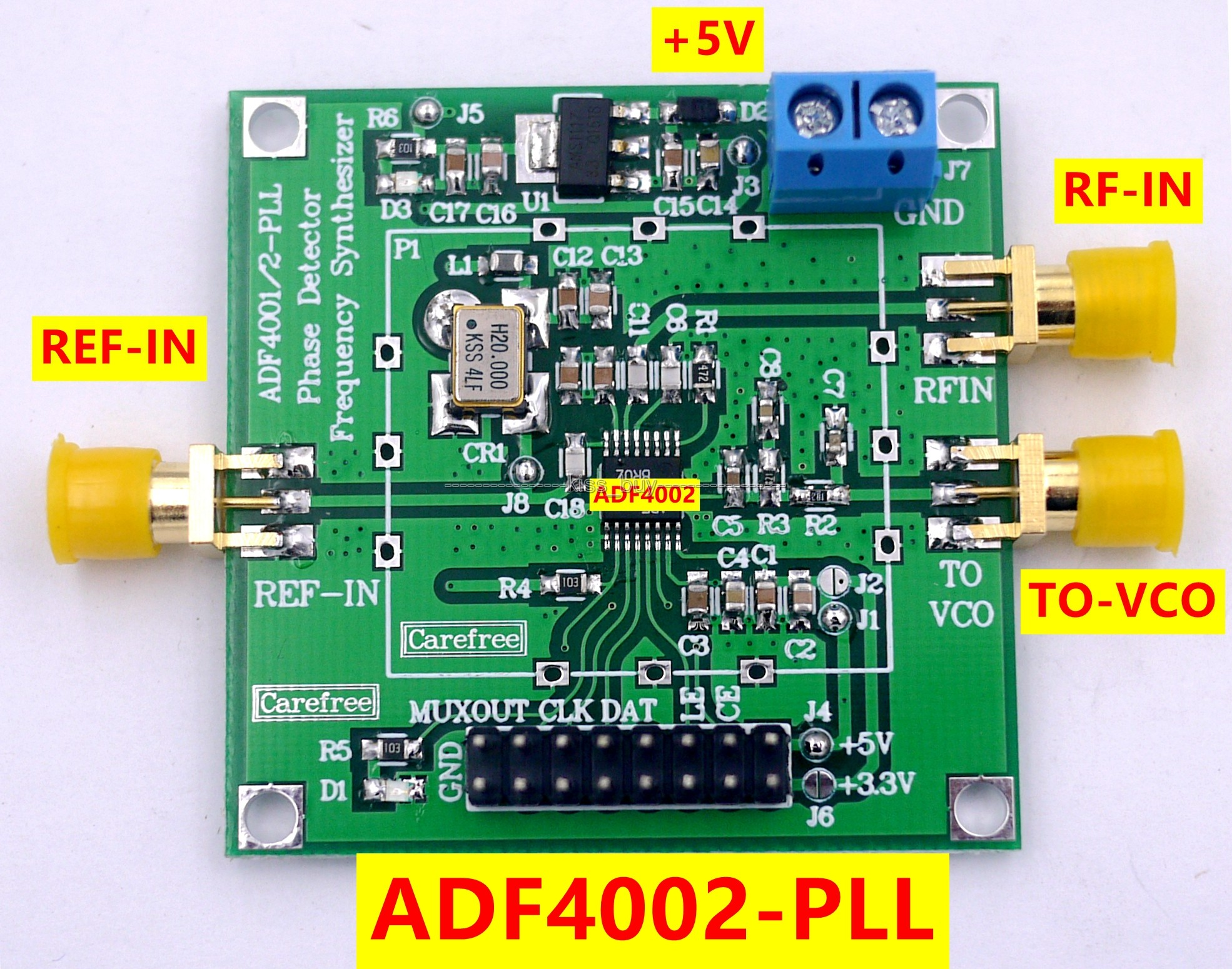 US $14 87 7% OFF|ADF4002 RF module PLL VCO 400MHZ phase detector Frequency  synthesizer-in Integrated Circuits from Electronic Components & Supplies on