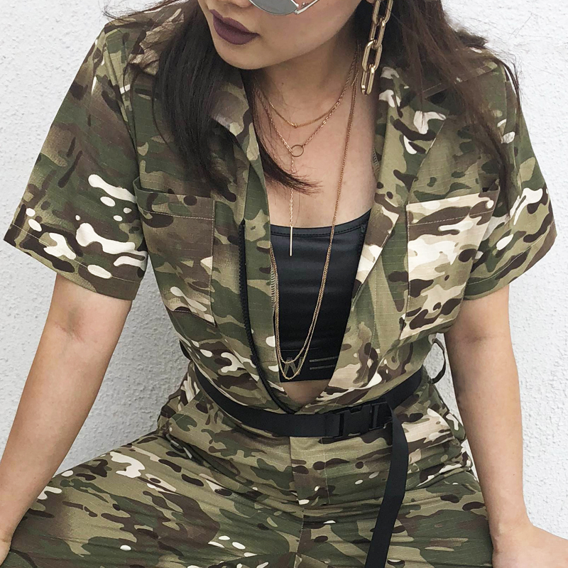 797dd1300b33 ... 8Sweetown Camouflage Long Jumpsuit Women Street Style Combinaison  Pantalon Femme Overalls Rompers Womens Jumpsuits Streetwear ...