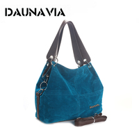 DAUNAVIA Brand Handbag Women Shoulder Bag Female Large Tote Bag Soft Corduroy Leather Bag Crossbody Messenger