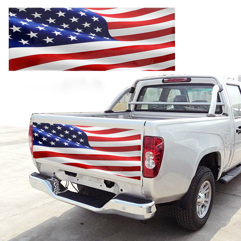 167CM X 58CM Car Stickers American Flag For Truck Tailgate Wrap Vinyl Decal Sticker Vehicle Auto Exterior sticker Accessories-in Car Stickers from Automobiles & Motorcycles