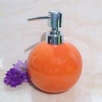 ファッションカラーボールハンド消毒ボトル500ミリリットルセラミックポンプトップシャンプー化粧ボトル詰め替えシャワー容器FZ252