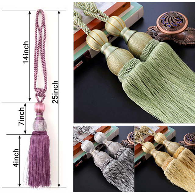 Hooks for Curtains Tennis Ball Curtain Holder Decoration Pour Salon Pendant Accessories for Curtains Tassels Tiebacks CP063-30 1