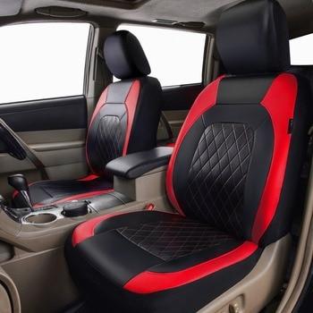 Fundas Para Asientos De Cuero | Cubierta De Asiento De Coche Bloqueo De Cuero Pu Color Rojo Gris Artículos De Coche Funda De Asiento Conjunto Adecuado Para Lada Kelina Granta Ford Focus 2 Renault Logan