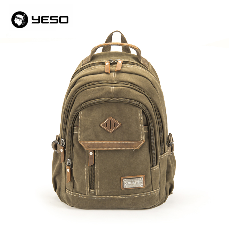 2016 New YESO Brand Designer Vintage Men Travel Backpacks Leisure Male Laptop Backpack Bags Black High Quality School Bags new fashion vintage backpack canvas backpack teens leisure travel school bags laptop computers unisex backpacks men backpack
