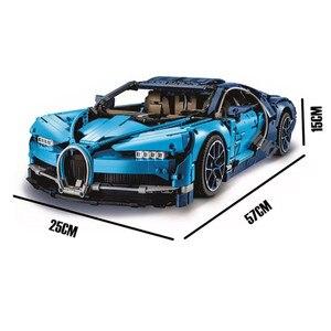 LP Bugatti Chiron Racing Car Sets kits 4031 pcs Compatible building Blocks Technic Series Model Brick Toys For Children