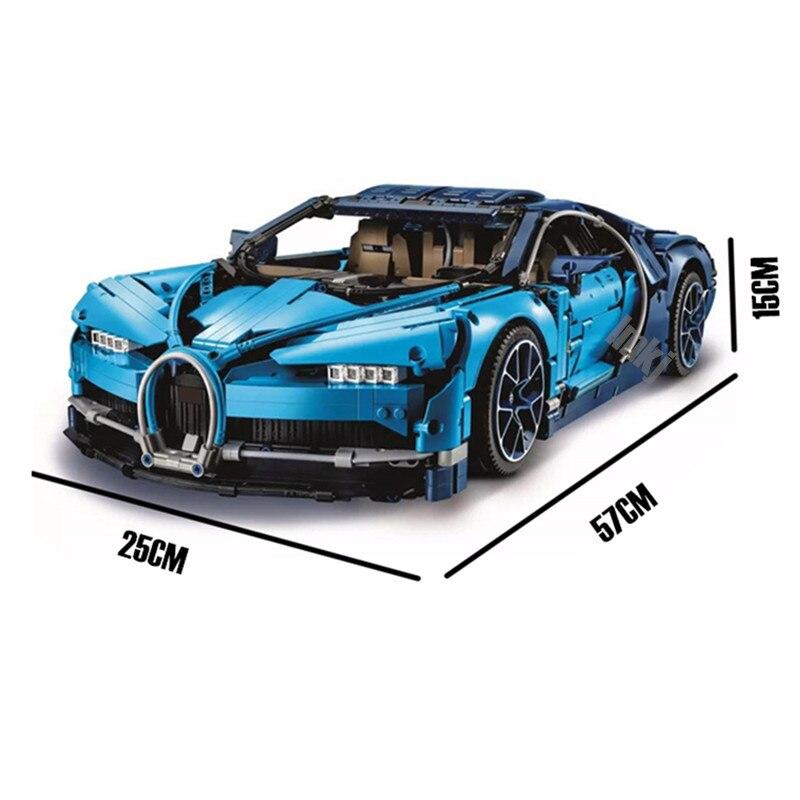 LP Bugatti Chiron Voiture De Course Ensembles kits 4031 pièces Blocs de construction Compatibles Technic Série Modèle Brique Jouets Pour Enfants