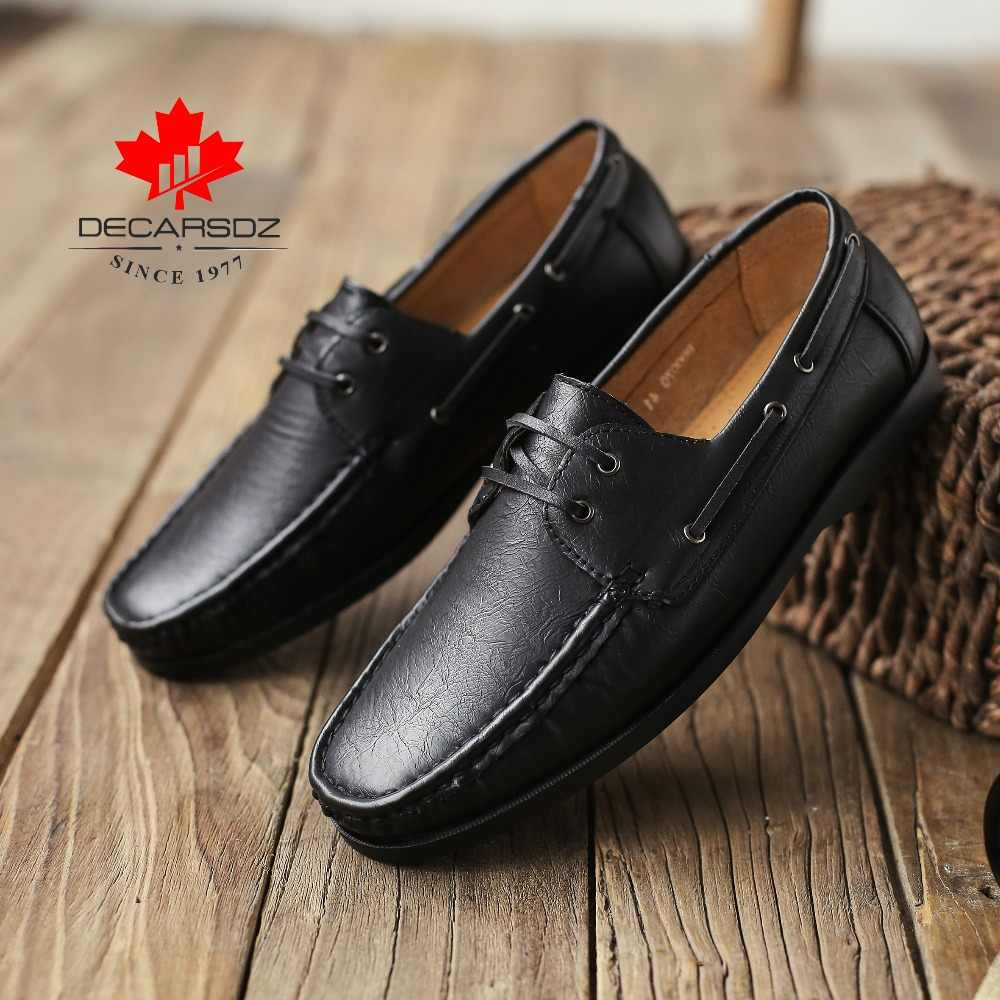 Erkekler loafer ayakkabılar 2020 yeni gündelik erkek ayakkabısı erkekler moda mokasen tekne ayakkabı erkek marka rahat Slip-On deri erkek ayakkabıları