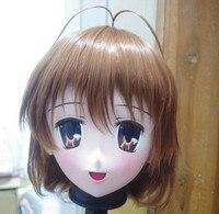(C2 058) кигуруми силиконовой резины Уход за кожей лица маска Косплэй полной головки Kigurumi Маски для век с парик Трансвестит кукла Японии аниме