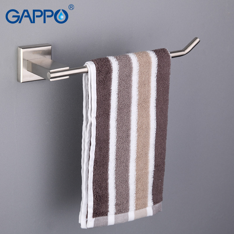 GAPPO Stainless Steel Towel Bars Wall Mount Towel Rack Bathroom Towel Holders Bath Hardware Storage Shelf Bathroom Accessories gappo towel bars bathroom towel holder hanger bath accessories stainless steel towel rack towel ring robe hooks bathroom