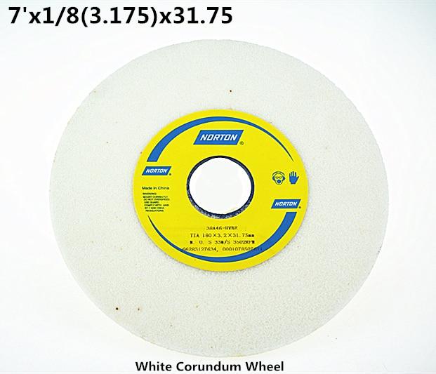 180x3.175x31.75mm White Corundum Grinding Wheel 1pcs Free Shipping High Quality White Corundum