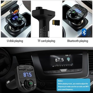 Автомобильный Bluetooth fm-передатчик 5 в 4.1A, автомобильный комплект громкой связи, MP3 плеер APE/FLAC/WAV A2DP, Поддержка музыки, TF карта, USB флеш-накопител...