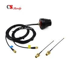 1pc IP67 3 グラム wifi 屋外駐車アンテナおさげ、 gsm 無線 lan アンテナ 2 個 ipex sma ケーブルに 100 ミリメートル